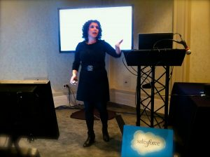 Inqune founder Alana Kadden Ballon speaks at Dreamforce 2013.